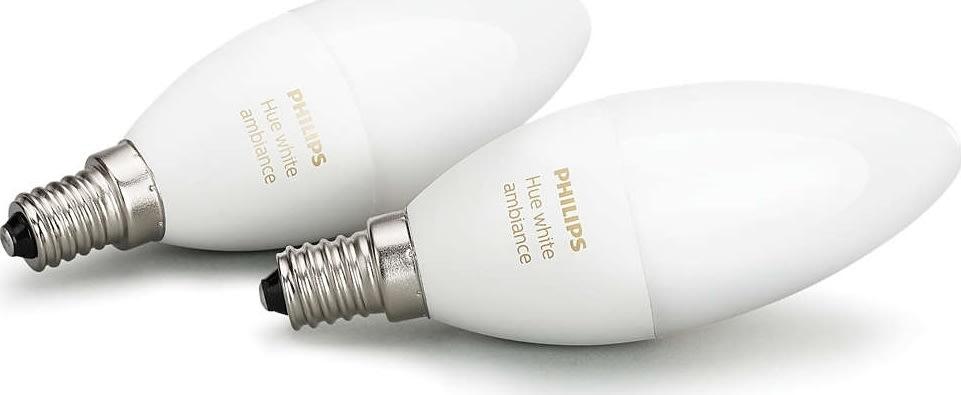 Philips HUE White Ambiance E14, 2-pak