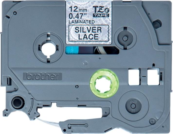 Brother TZe-MPSL31 labeltape, 12mm sort på blonde