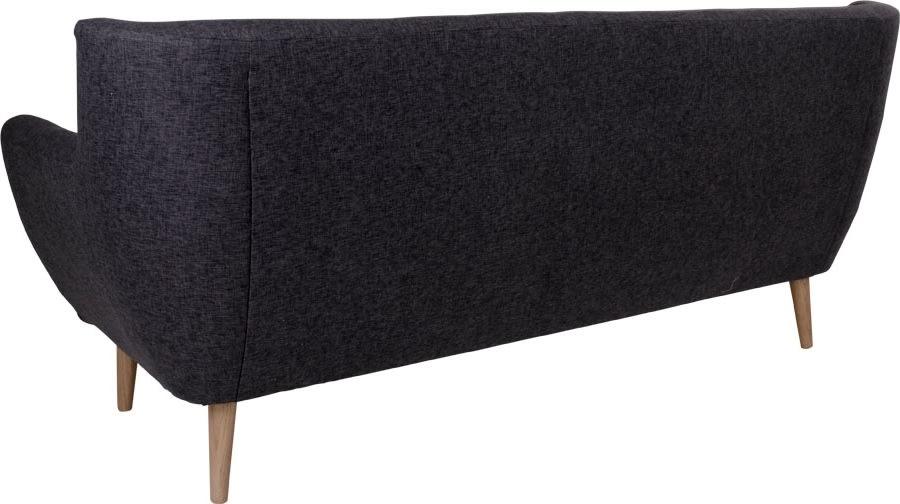 Jupiter 3 personers sofa, mørkegrå m. træben