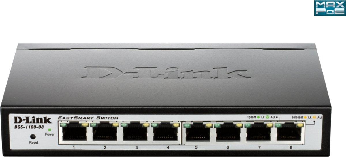 D-Link DGS-1100-08P Switch, 8 ports 10/100/1000