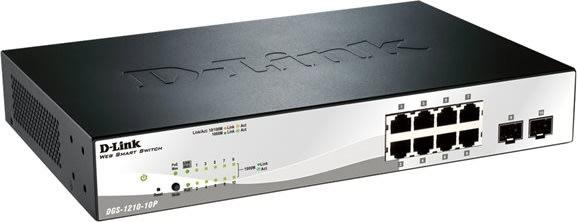 D-Link DGS-1210-10P switch, 10 ports