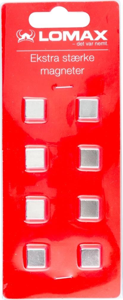 Super stærke firkantede magneter, 8 stk