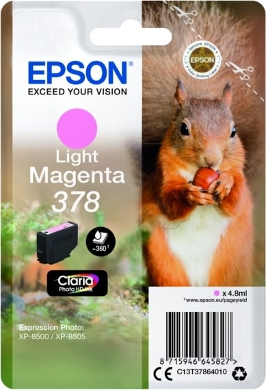 Epson T378 blækpatron, light magenta, 4.8 ml