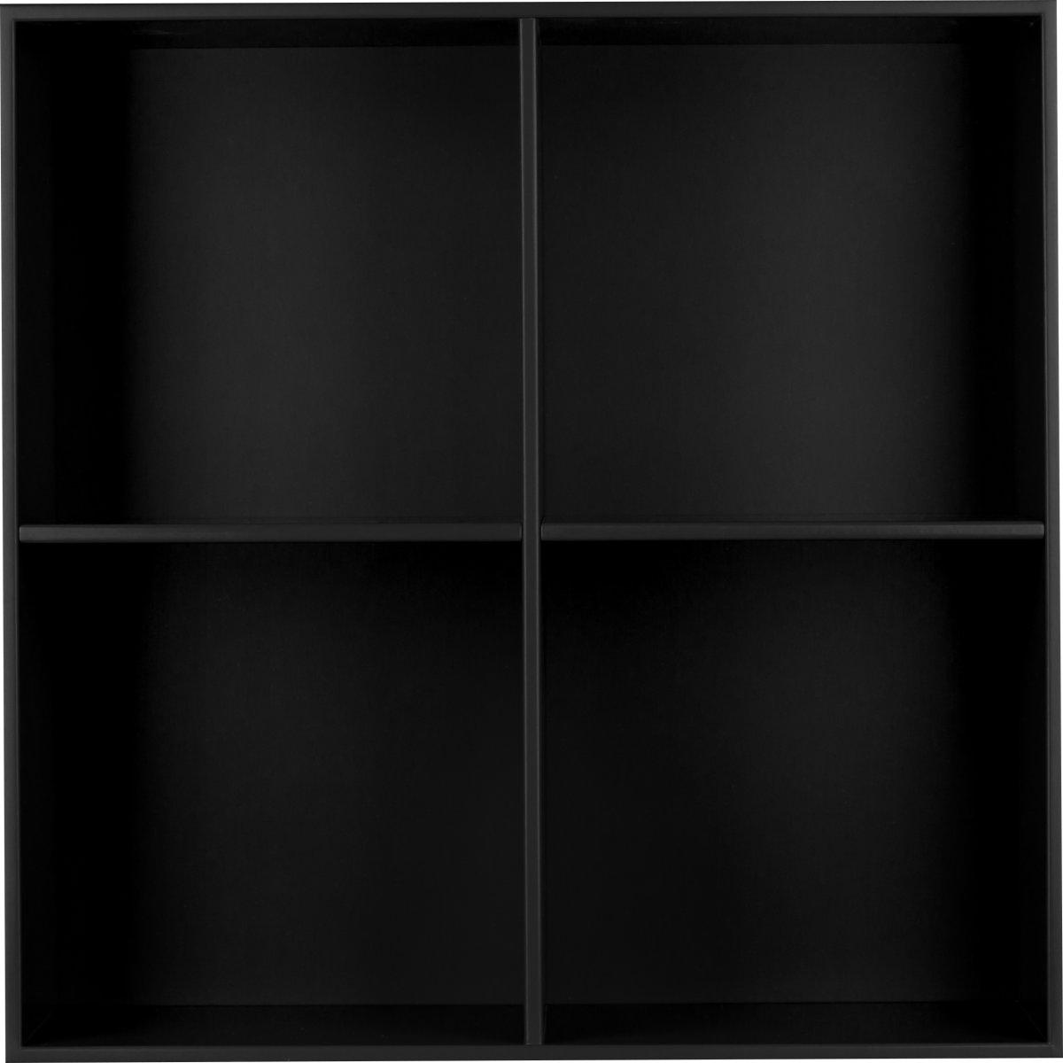 HAVANA reol m/4 rum - Black, D.34, inkl. ophæng