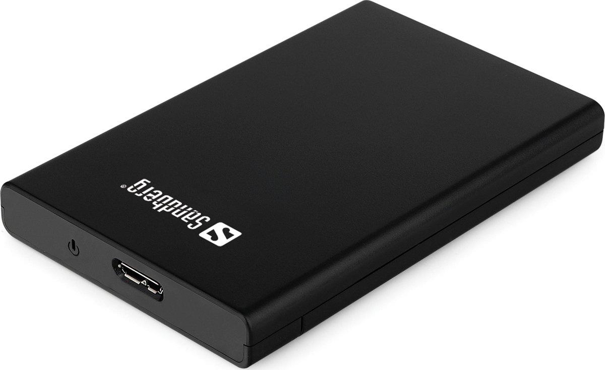 Sandberg USB 3.0 til SATA Box 2.5'', sort