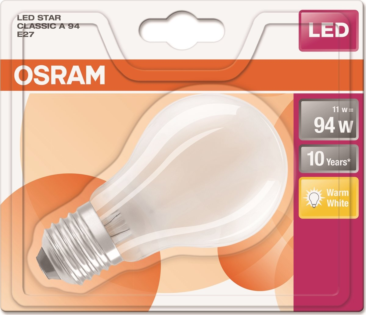 Osram LED Retro Standardpære mat E27, 8W=94W
