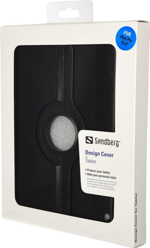 "Sandberg iPad 2017 10.5"" rotating cover, sort"