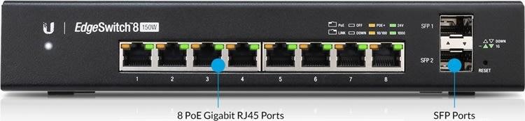 Ubiquiti ES-8-150W EdgeSwitch, 8-Ports