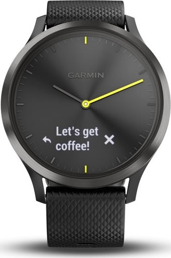 Garmin vívomove® HR hybrid-smartwatch, sort (L)