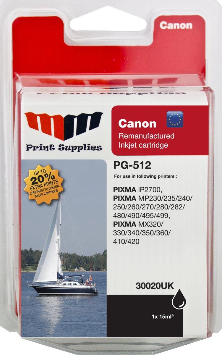 MM PG-512 kompatibel Canon blækpatron, sort
