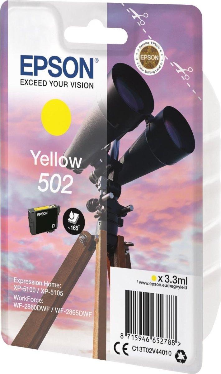 Epson T502 blækpatron gul, 3.3ml