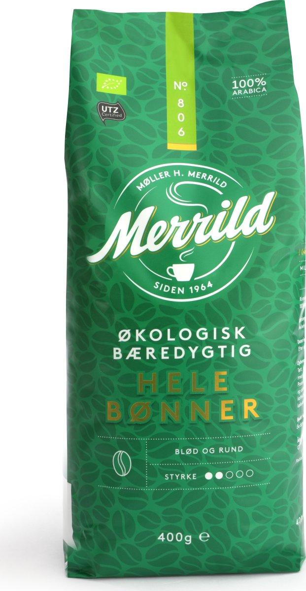 Merrild Økologiske helbønner, 400g