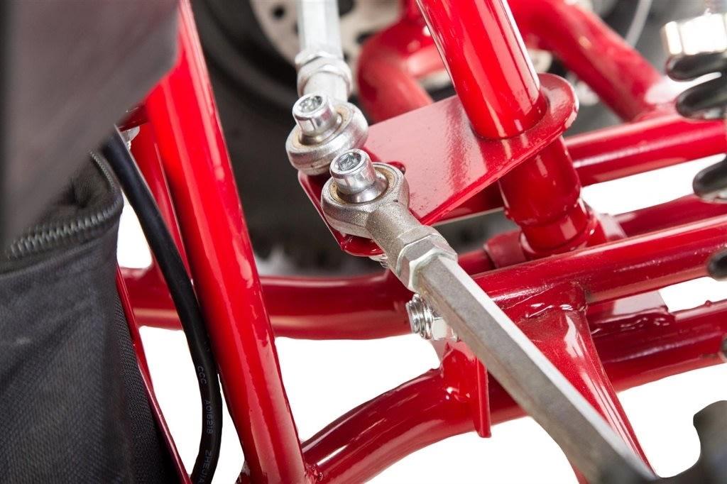 Azeno Panther Premium 1000W ATV, 48V, rød/sort