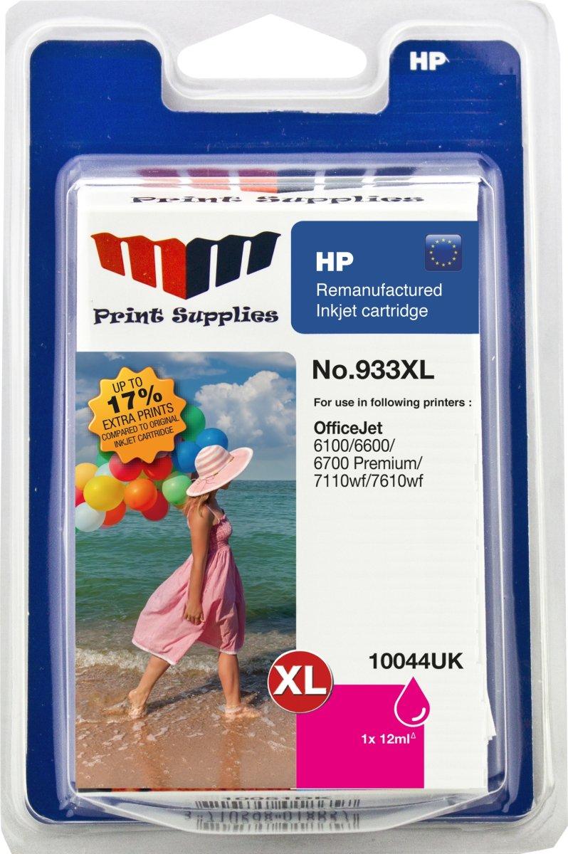 MM 933XL/CN055AE kompatibe HP blækpatron, rød