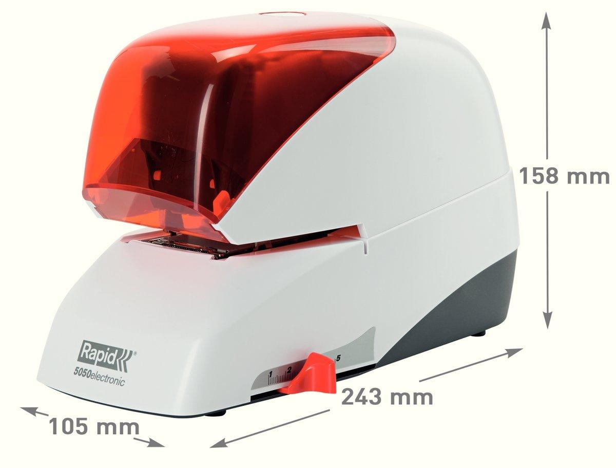 Rapid Supreme R5050e Elektrisk hæftemaskine,orange