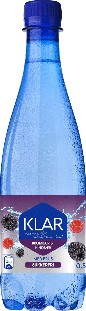 Aqua D'or KLAR Hindbær & Brombær, 0,5 l inkl. pant
