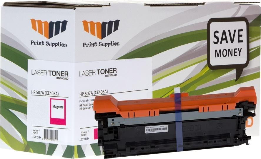 MM CE403A / 507A kompatibel HP lasertoner, rød
