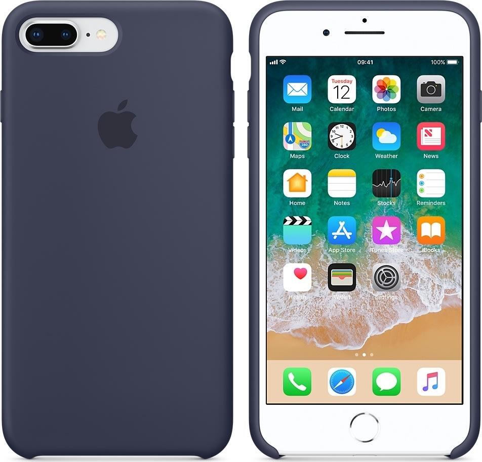 Apple iPhone 8/7 Plus silikone cover, midnatblå