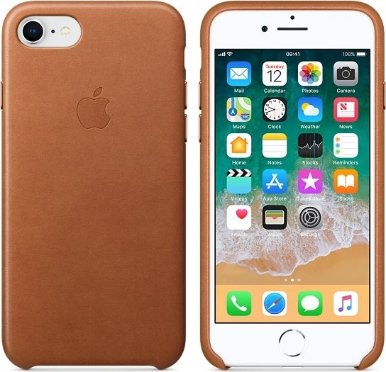 Apple iPhone 8/7 Leather Case, saddle Brown