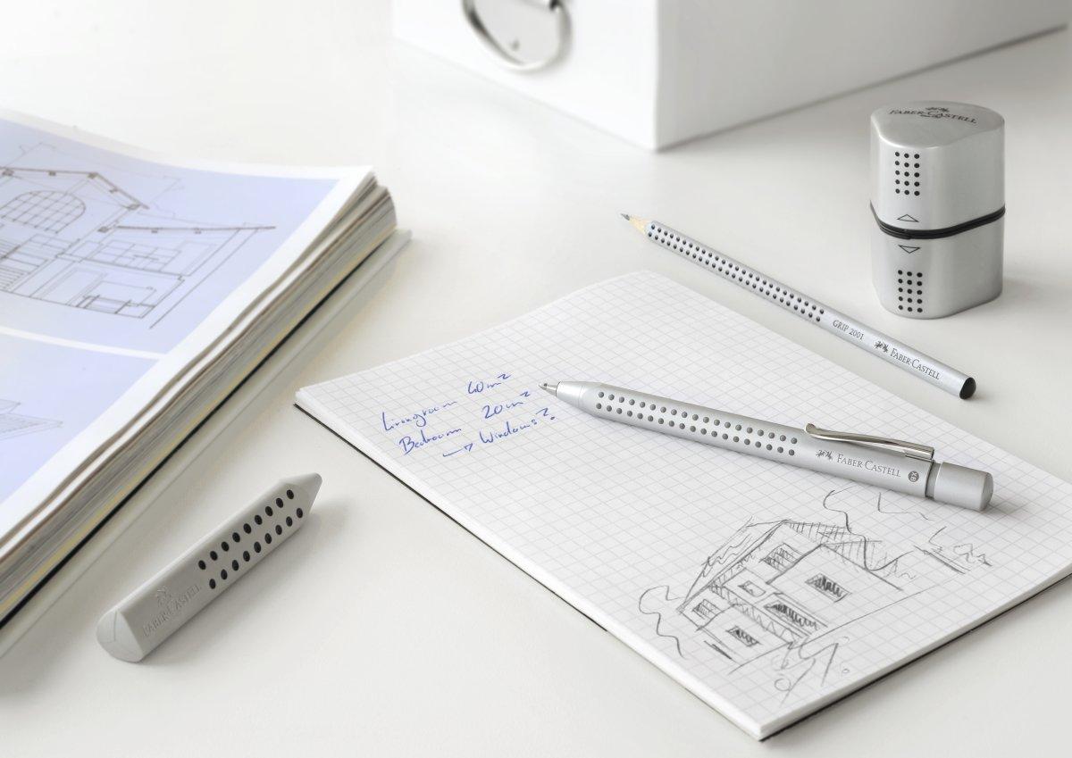 Faber-Castell Grip 2011 kuglepen, silver