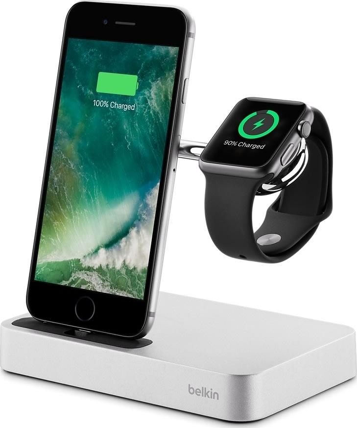 Belkin Dockstation, Apple Watch og iPhone, sølv