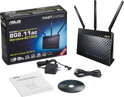 ASUS RT-AC68U Dual-Band Router, hvid