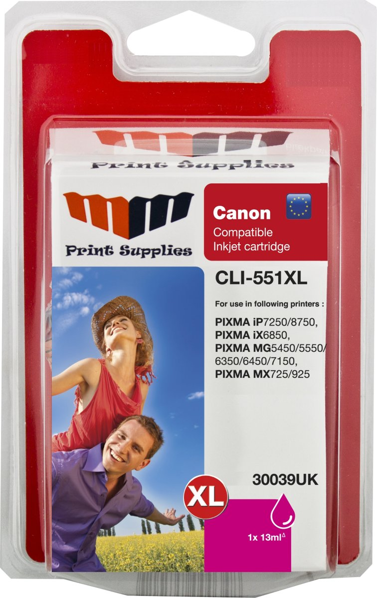 MM rød blækpatron - Canon CLI-551MXL