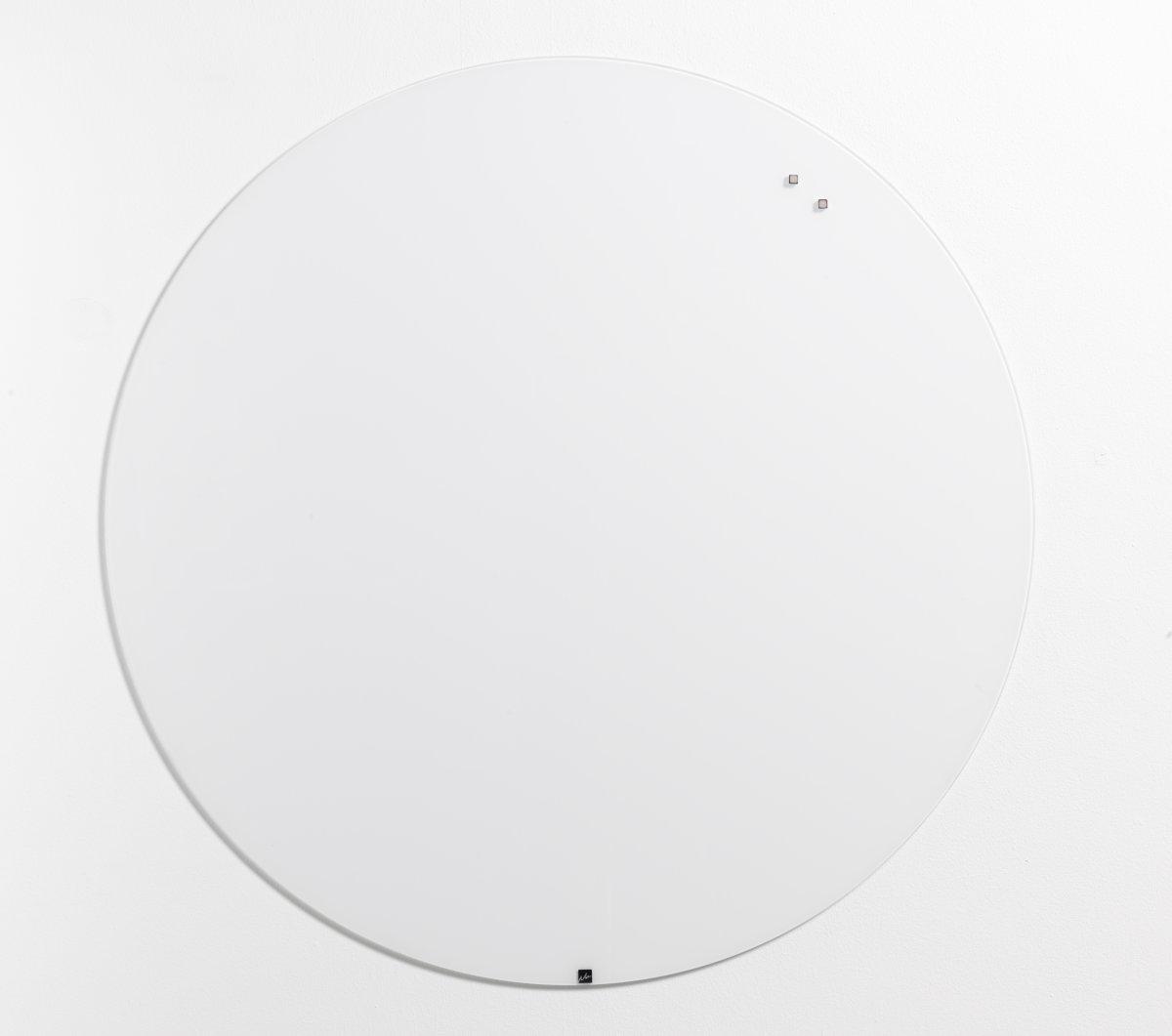 NAGA  magnetisk glastavle, Ø100 cm, pure white