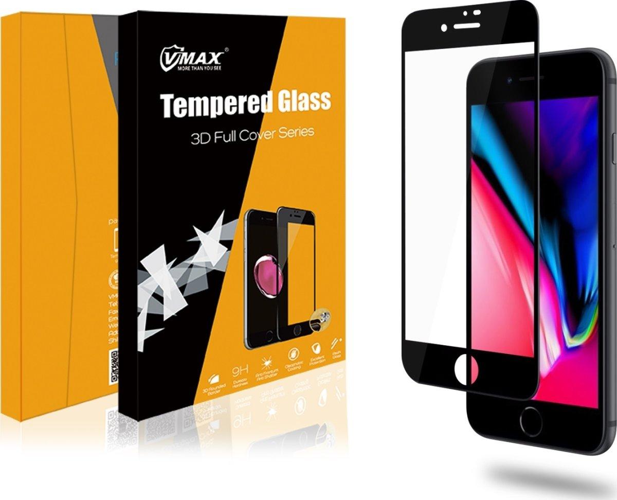 VMax 3D skærmbeskyttelse iPhone 6/6s/7/8 (sort)