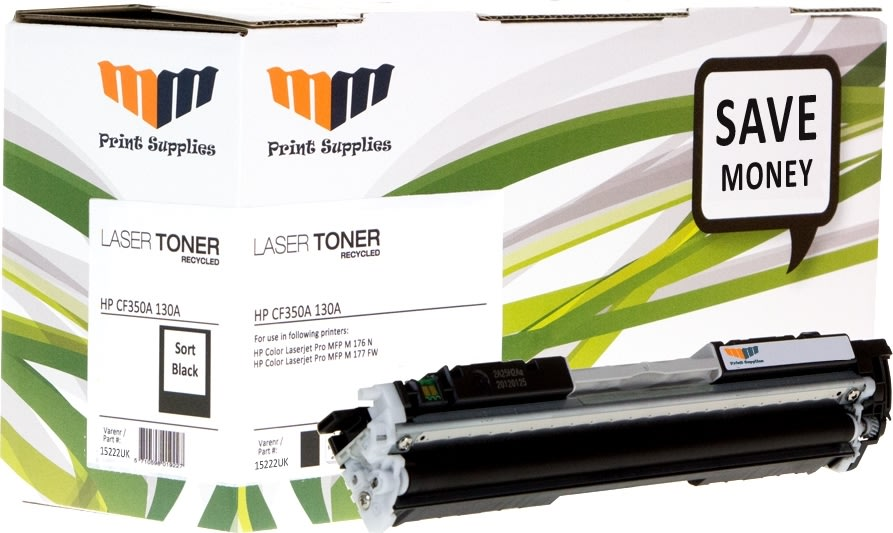 MM 130A/CF350A kompatibel lasertoner, sort, 1300s