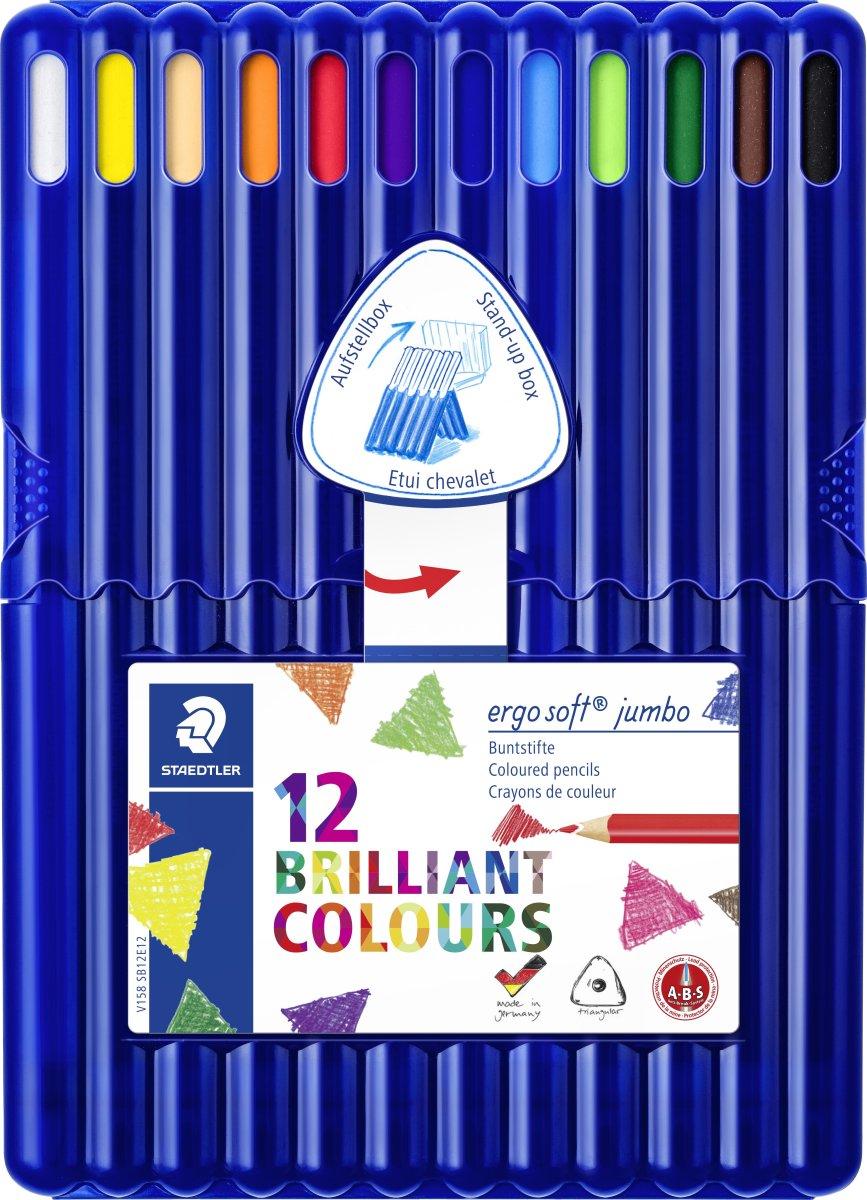 Staedtler Ergosoft Jumbo 158 Farveblyanter, 12 stk