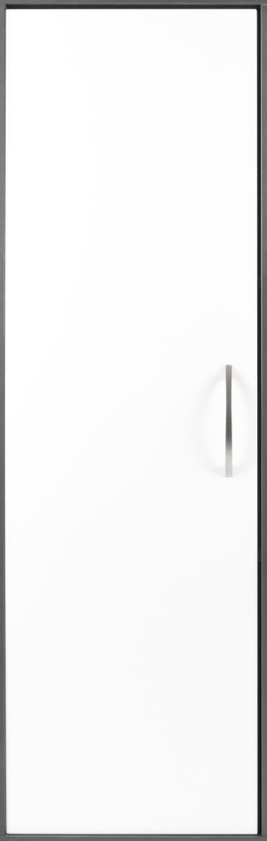 Stay dør t/3 rum i højden inkl. lås, V. hvid