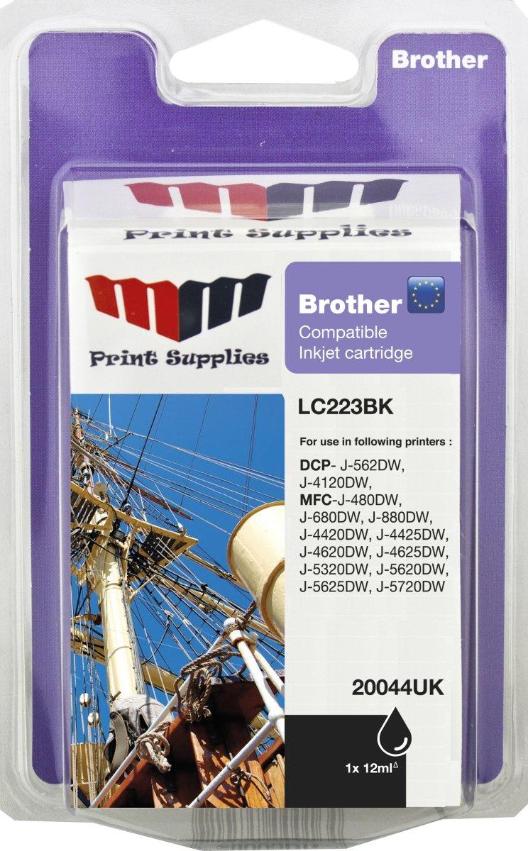 MM LC223BK kompatibel blækpatron, sort