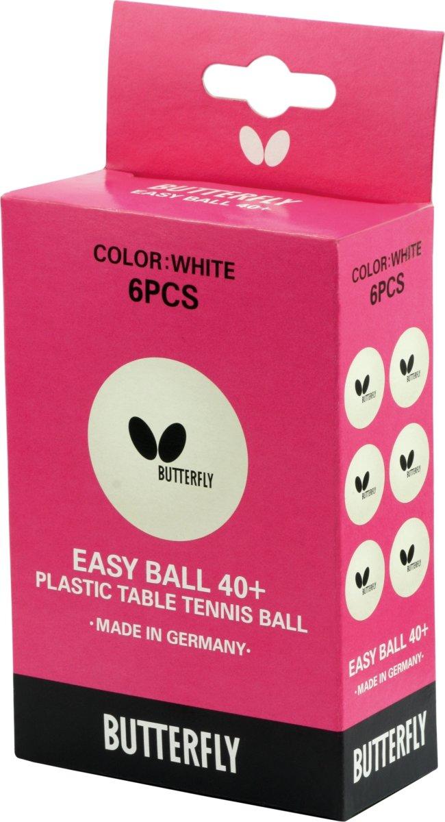 Butterfly Easy ball bordtennisbolde, 6 stk