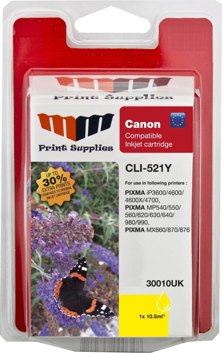MM CLI-521Y kompatibel blækpatron, gul, 572s