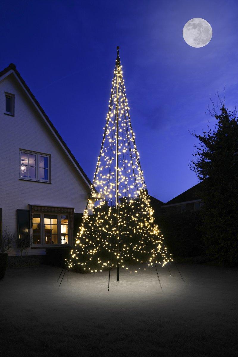 Lyskæde til flagstang m/ 1200 LED lys, H 6 m