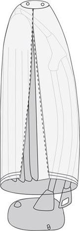 Overtræk til hængeparasol, L 280 cm