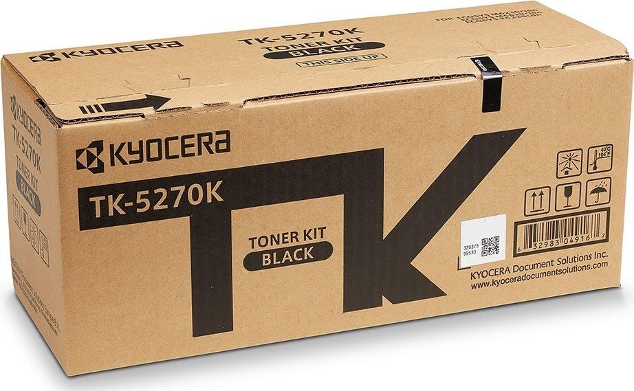 Kyocera TK-5270K Lasertoner, sort, 8.000s