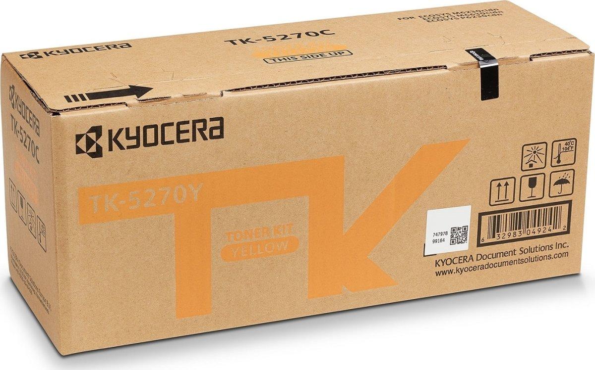 Kyocera TK-5270Y Lasertoner, Gul, 6.000s