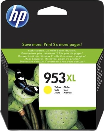 HP No953XL blækpatron blister, gul, 1.600s