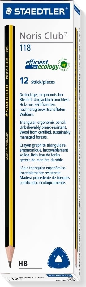 Staedtler Noris Club Triplus blyant 118 HB