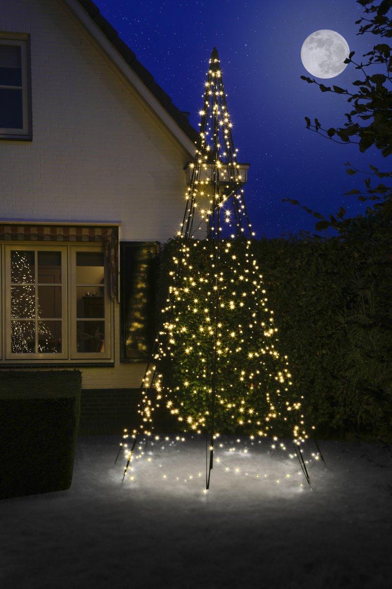 Juletræ m/ 640 LED lys, H 420 cm
