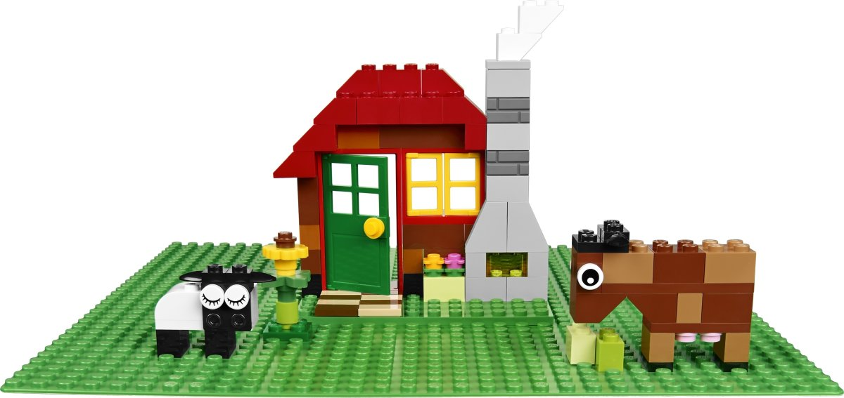 LEGO Classic 10700 Grøn byggeplade, 25 × 25 cm