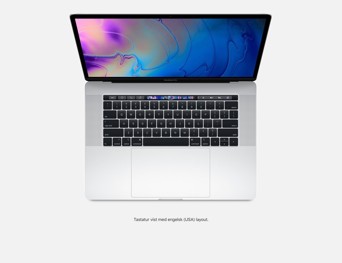"Apple 15"" MacBook Pro (2018) 512GB, Sølv"