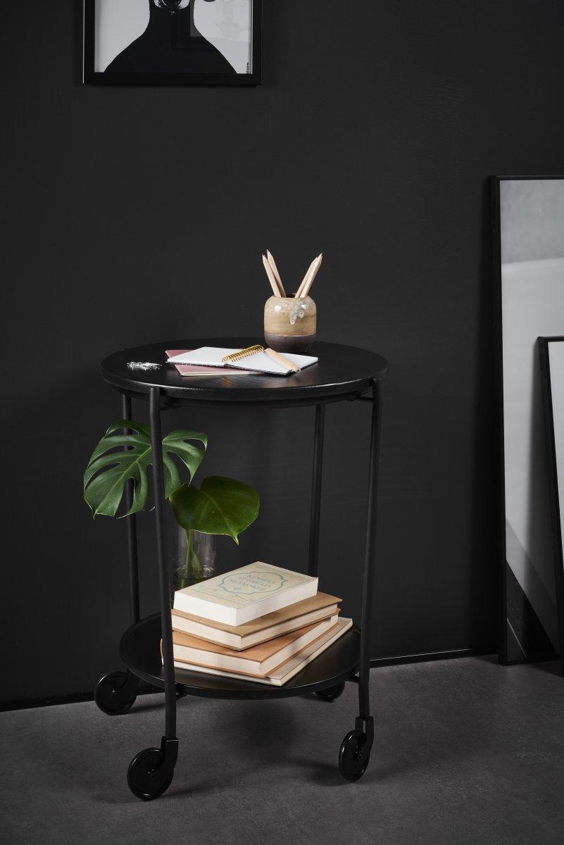 ROLLit bakkebord, sort metal, H.63xØ.55 cm