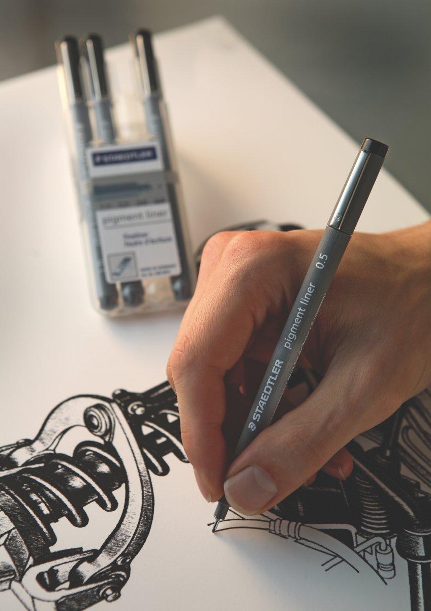 Staedtler Pigment Liner 308 Fiberpen 0,1 mm, sort
