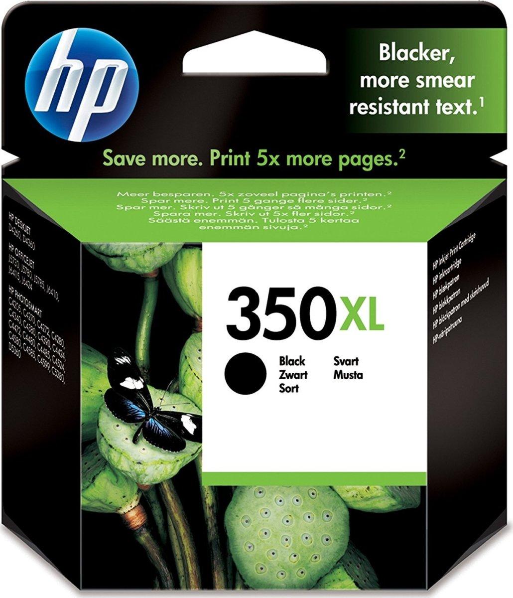 HP No350 blækpatron, blister, sort, 1000s