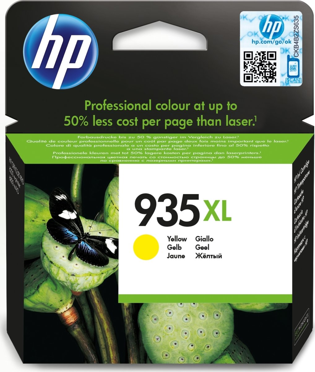 HP No935XL blækpatron, blister, gul, 825s