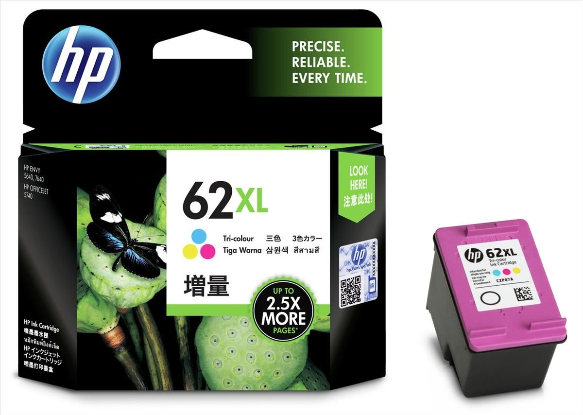 HP No62XL blækpatron, blister, farve, 415s