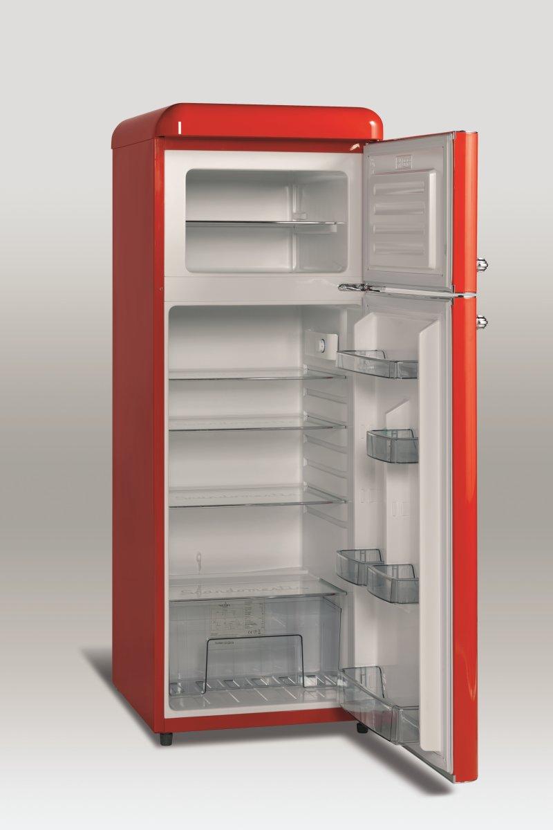 Scandomestic RKF 202 Frits. køleskab, Ferrrari rød